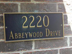 Address Sign