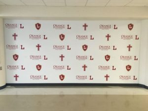Lakeland Church Signs custom wall vinyl step repeat mural 300x225